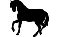 dancing horse silhouette vector Free Dxf File for CNC