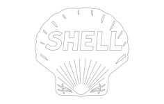 shell Free Dxf File for CNC