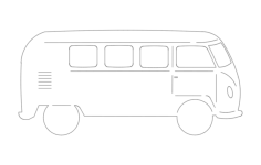 volkswagen bus Free Dxf File for CNC