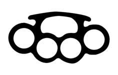 brass knuckles 3 Free Dxf File for CNC