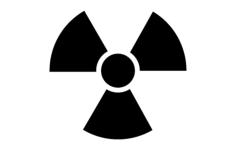 radiation symbol Free Dxf File for CNC