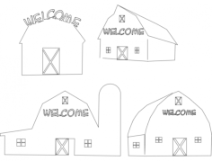 barns Free Dxf File for CNC