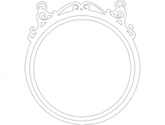 mirror frame round Free Dxf File for CNC