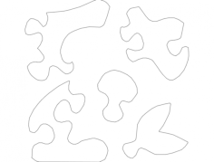 bunny puzzle Free Dxf File for CNC