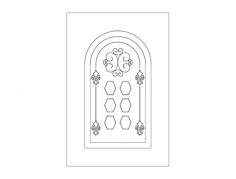 door design arch Free Dxf File for CNC