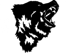 bear 10 Free Dxf File for CNC