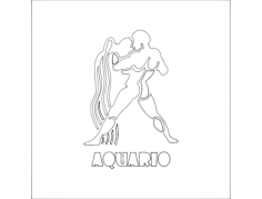 aquario Free Dxf File for CNC