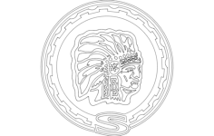 jeep-cherokee emblem Free Dxf File for CNC
