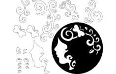 art decoration Free Dxf File for CNC
