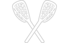lacrosse Free Dxf File for CNC