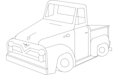 55f-pickup Free Dxf File for CNC