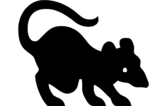 rat silhouette Free Dxf File for CNC