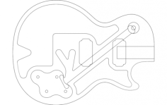 guitar vector art Free Dxf File for CNC