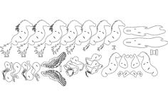 caballo alado (winged horse) Free Dxf File for CNC