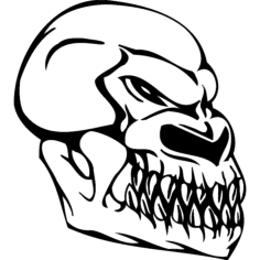 skull 004 Free Dxf File for CNC