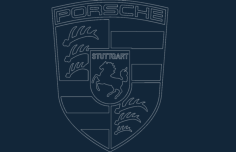 porsche  acad Free Dxf File for CNC