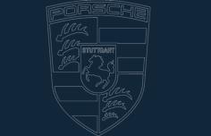 porsche  acad Free Dxf File for CNC