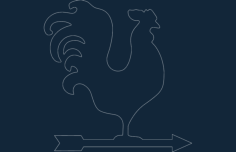 weather vane weathercock Free Dxf File for CNC