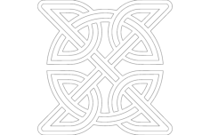 celtic knot round inside square Free Dxf File for CNC