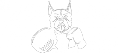 boxer boxing  Free Dxf File for CNC