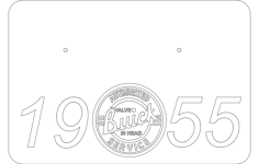 55 buick base Free Dxf File for CNC