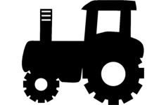 tractor silhouette vector art Free Dxf File for CNC