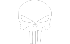 the punisher skull silhouette Free Dxf File for CNC