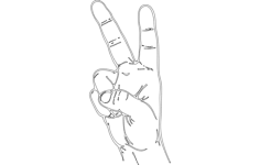 victory fingers Free Dxf File for CNC