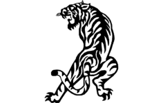 tiger Free Dxf File for CNC
