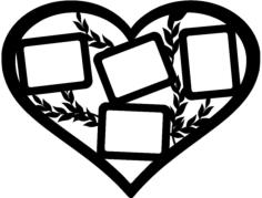 рамка сердце Free Dxf File for CNC