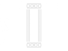 mdf door design 11 Free Dxf File for CNC