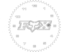 fox mx clock Free Dxf File for CNC