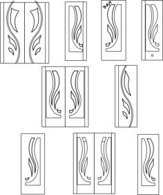 interior door designs Free Dxf File for CNC