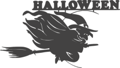 halloween witch Free Dxf File for CNC