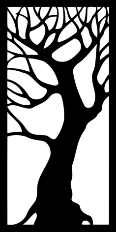 tree – decorative panel Free Dxf File for CNC