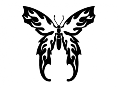 flaming butterfly Free Dxf File for CNC