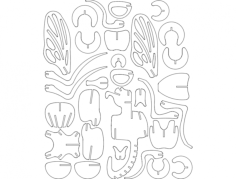 mucha Free Dxf File for CNC