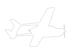 cessna fying trace Free Dxf File for CNC