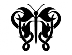 butterfly 11 Free Dxf File for CNC
