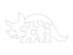 dino puzzle Free Dxf File for CNC