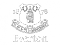 everton Free Dxf File for CNC