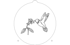humming bird sail Free Dxf File for CNC