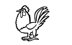 rooster Free Dxf File for CNC