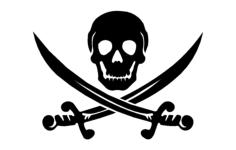 skull swords Free Dxf File for CNC