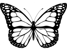 butterfly design Free Dxf File for CNC