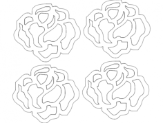 rosa 21 pp 19,94×17,39 Free Dxf File for CNC