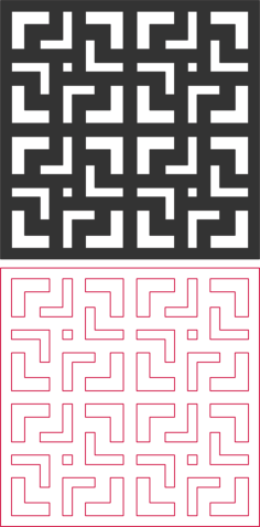 seamless maze pattern Free Dxf File for CNC