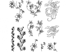 flowers vector Free Dxf File for CNC