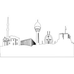 ankara silueti Free Dxf File for CNC