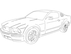 new mustang Free Dxf File for CNC
